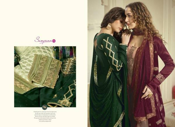 Sampann NX Samreen Vol 1 Latest Heavy Designer Wedding Plazzo Suit Collection With Embroidery And Stone Work