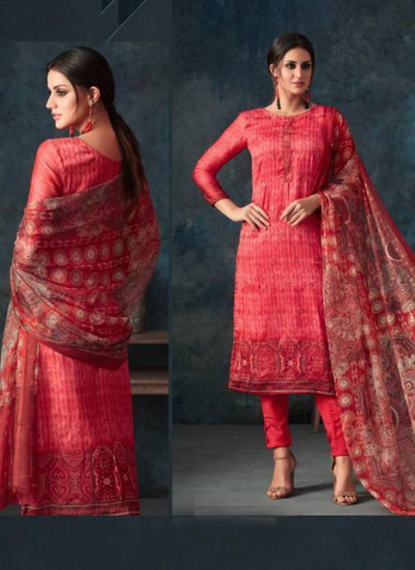 Amaira Satin Georgette Digital Print Embroidery and Stone Work Digital Printed Plazzo Suit Collection A 450 - A 454