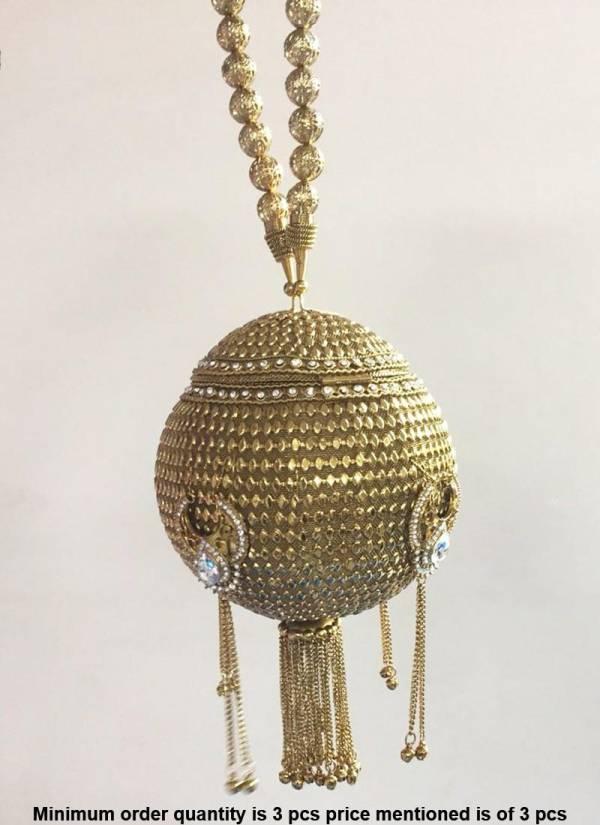 Bridal Stylish Metal Handbag Collection With Diamond And Kundan Work