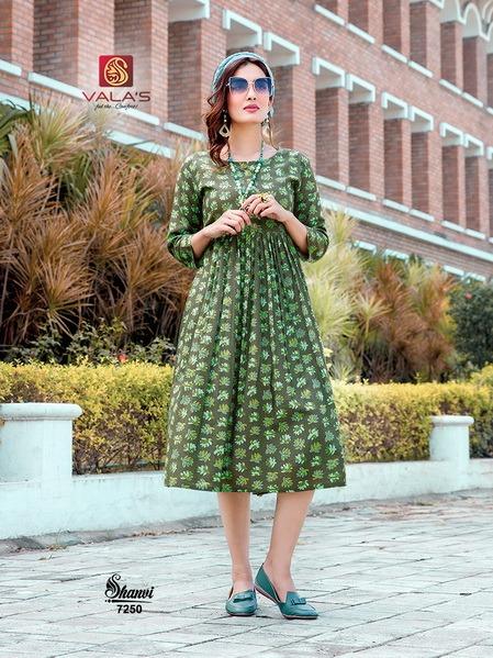 Valas Shanvi Latest Designer Fancy Ethnic Wear Pure Cotton Anarkali Kurtis Collection