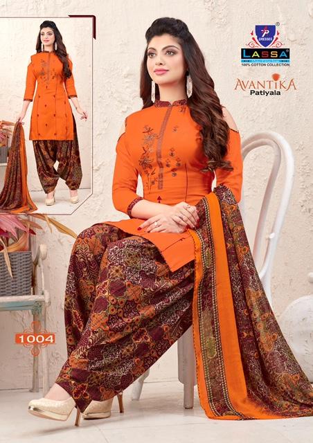 Arihant Lassa Avantika Latest fancy Designer Regular Casual Wear Printed Patiyala Dress Material Collection