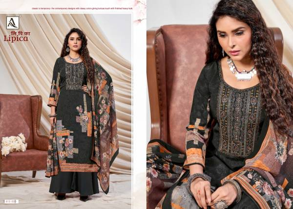 Alok Lipika Digital Print With Embroidery Crepe Silk Casual Wear Work Dress Material Collection