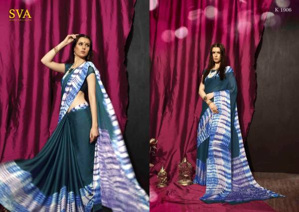 Sva Saniya Printed Georgette Casual Wear Saree Collection at Wholesale Price