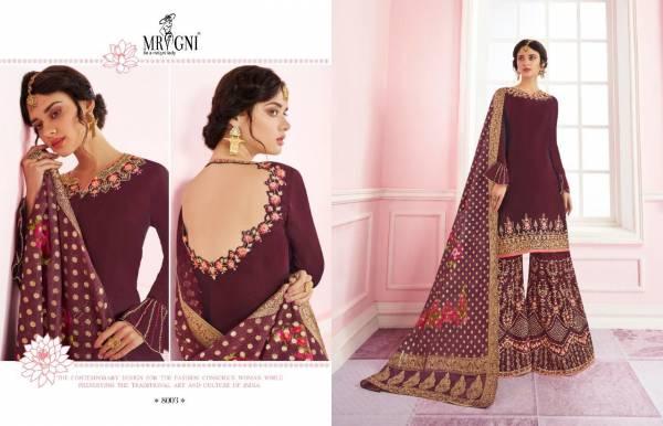UTSAV MRIGNI SARARA Latest Fancy Wedding Wear Designer Satin Georgette Heavy Work Salwar Suit Collection