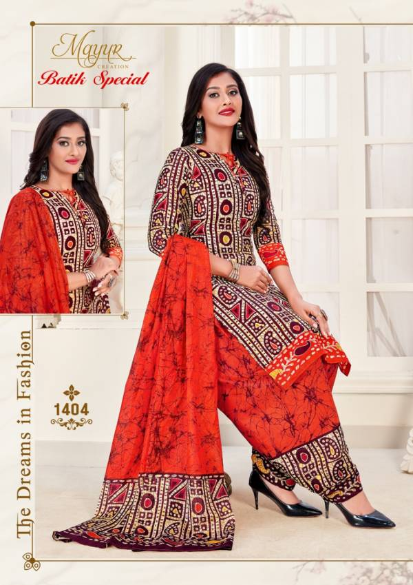 Mayur Batik Special Vol 14 Latest Casual Wear Printed Cotton Dress Material Collection