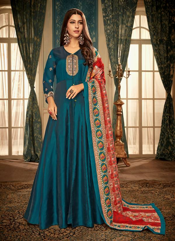 Vardan Designer Ramia esigner Gown With Heavy Look and Beautifull Embroidered Designer Party Wear Gown Collections