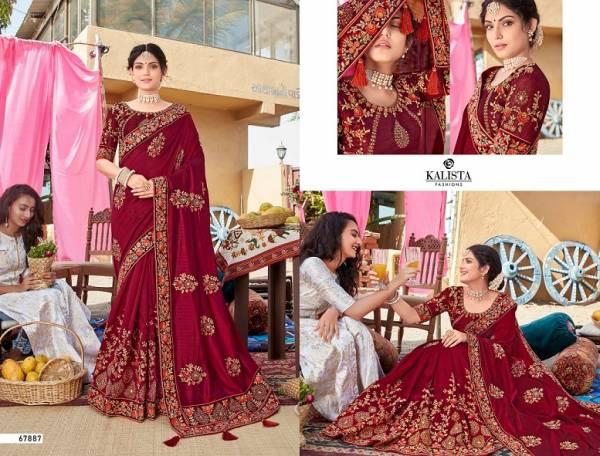 Kalista Mallika 3 Latest Fancy Designer Heavy Wedding Wear Full Embroidery Work Saree Collection