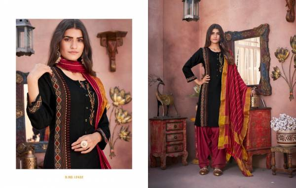 KALAROOP AVENUE PATIYALA Latest Fancy Casual Wear Heavy Flex Rayon With Embroidered Work Readymade Salwar Suit Collection