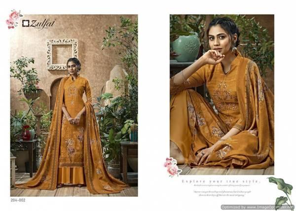 Zulfat Heenaz Latest Designer Printed Casual Wear Dress Material Collection