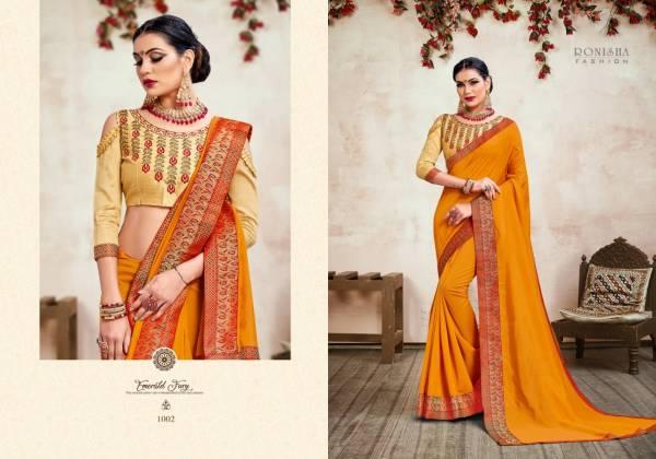 Ronisha Jhumki Fancy Designer Festive Wear Vichitra Silk Sarees Collection