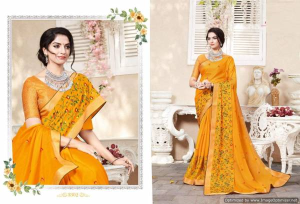 Vintage 9 Exclusive Party Wear Designer Fancy Chiffon Saree Collection