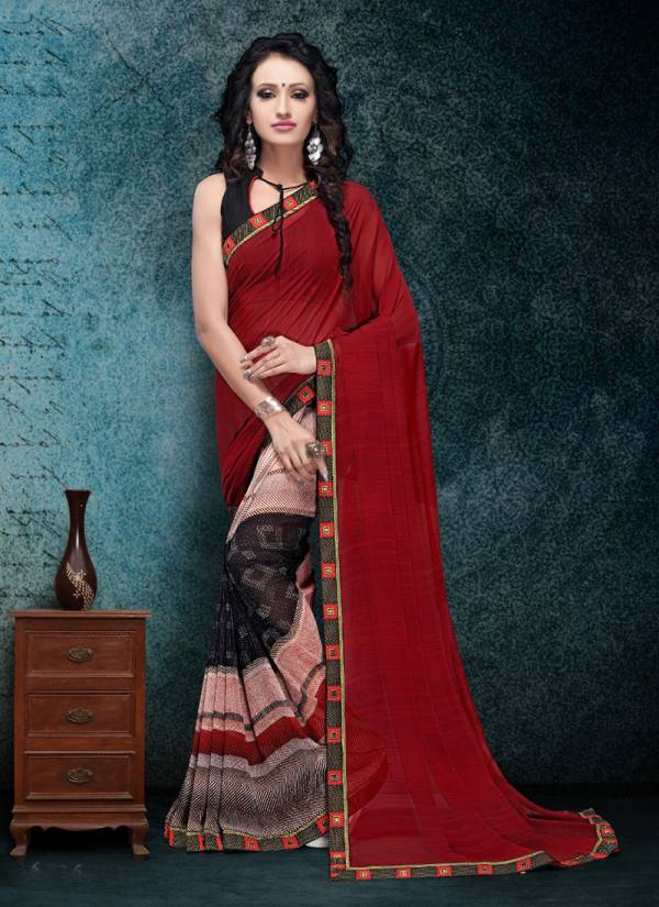 New Printed Designer Sarees Collection With Border