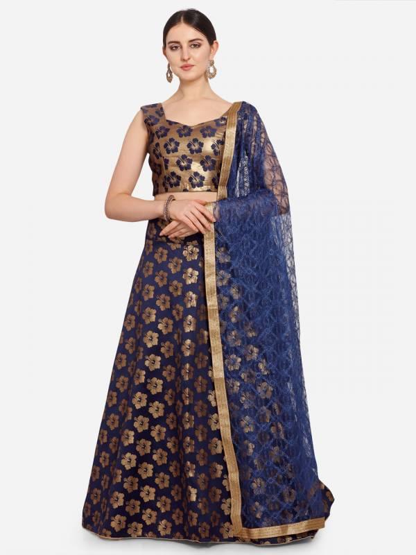 Latest Jacquard Wedding Lehenga Collection With Fancy Border Dupatta