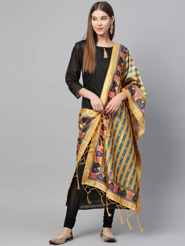 Latest Designer Printed Collection of Bamboo Buti Silk Dupatta
