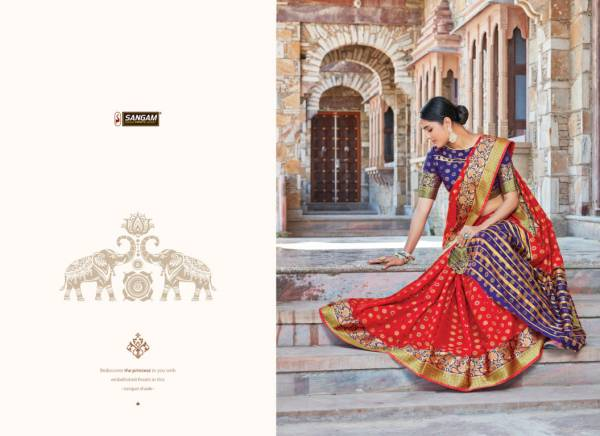Sangam Libaas Latest Fancy Designer Festive Wear Silk Sarees Collection