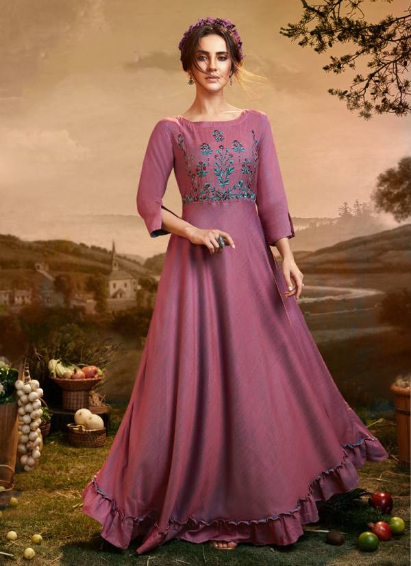 Fionista Viscose Slub Party Wear Fancy Gown Collection 1151-1156