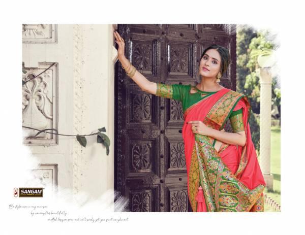 Sangam Sea Latest Fancy Designer Heavy Festive Wear Pure Silk Saree Collection