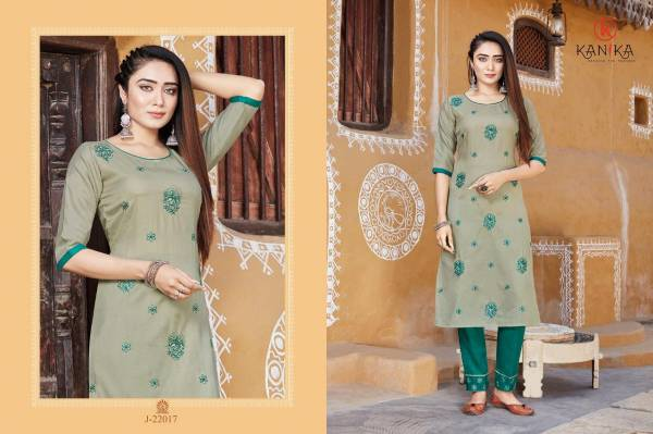 Kanika Julite 3 Latest Fancy Designer Ethnic Wear Two ton Rubbly silk with Embroidery Work Kurti With Bottom Collection