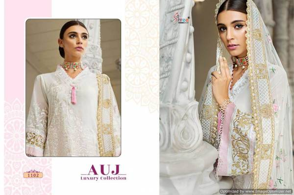 Shree Auj Luxury Collection Pure Lawn Cotton Exclusive Pakistani Collection