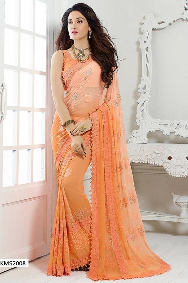 Kms Hit Series 2 Designer Bridal, Party Wear Wedding Sarees Collection With Embroidered Work
