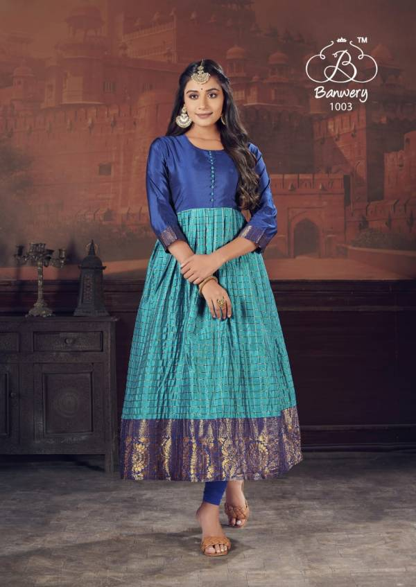 Banwery Pearl Festive Wear Designer Long Gown Style Collection