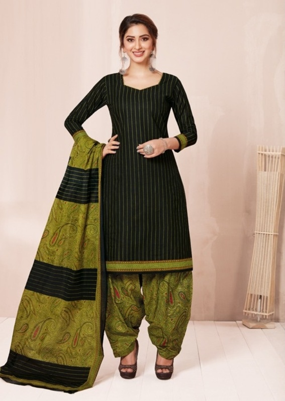 Aarvi Special Patiyala Designer Latest Daily Wear Printed Cotton Dress Material Collection