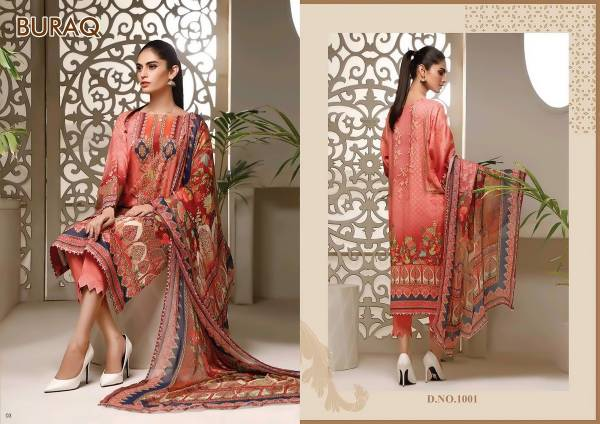Agha Noor Buraq Exclusive Latest Festive Wear Jam Satin Pakistani Dress Material Collection