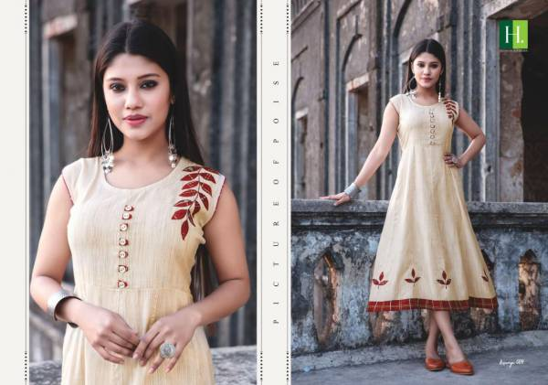 Hirwa Kesariya 3 Latest Designer Stylish heavy Rayon Embroidery Work Kurti Collection