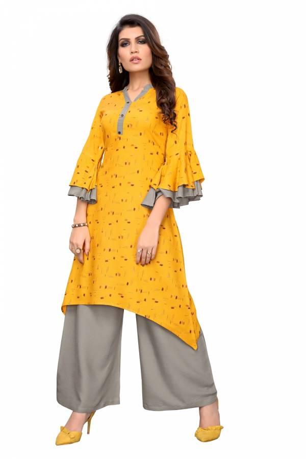 Glam Kurti 17 Stylish Latest fancy Designer Regular Wear Rayon Kurti With Bottom Collection