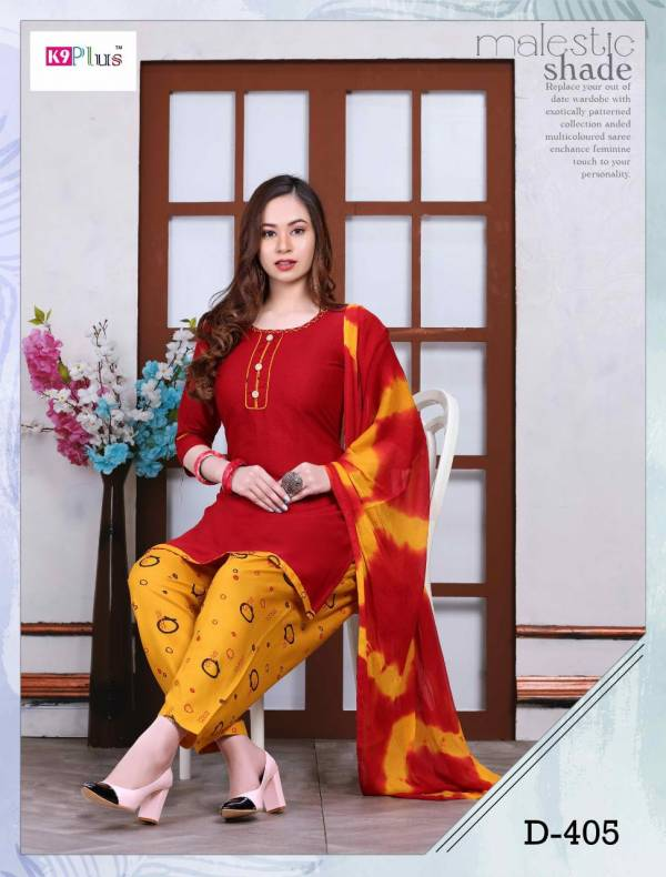 K9 Plus Pratigya 8 Latest fancy Regular Wear Rayon Printed Ready made Salwar Suit Collection
