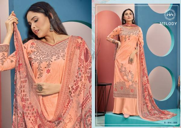 Harshit Melody Pure Cambric Cotton Fancy Designer Casual Wear Dress Material Collection