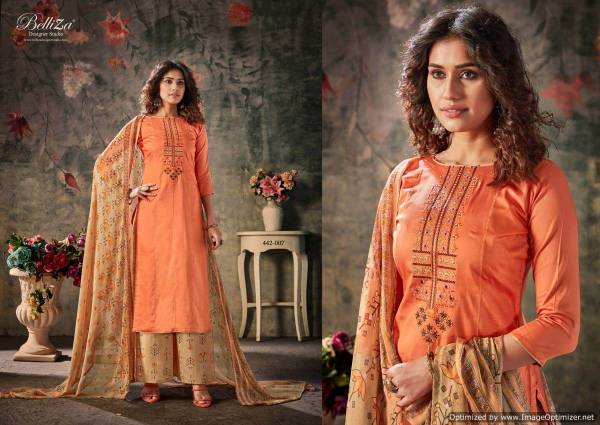 Belliza Nazar E Patiala 4 Latest Designer Pure Jam Cotton With Kashmiri Embroidery Work Nazneen Dupatta