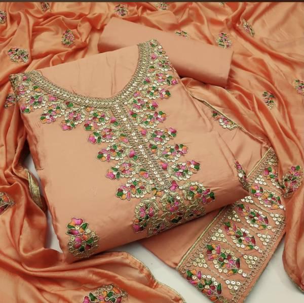 Navrang Latest Designer Cotton Dress Material With Beautiful Neck Design