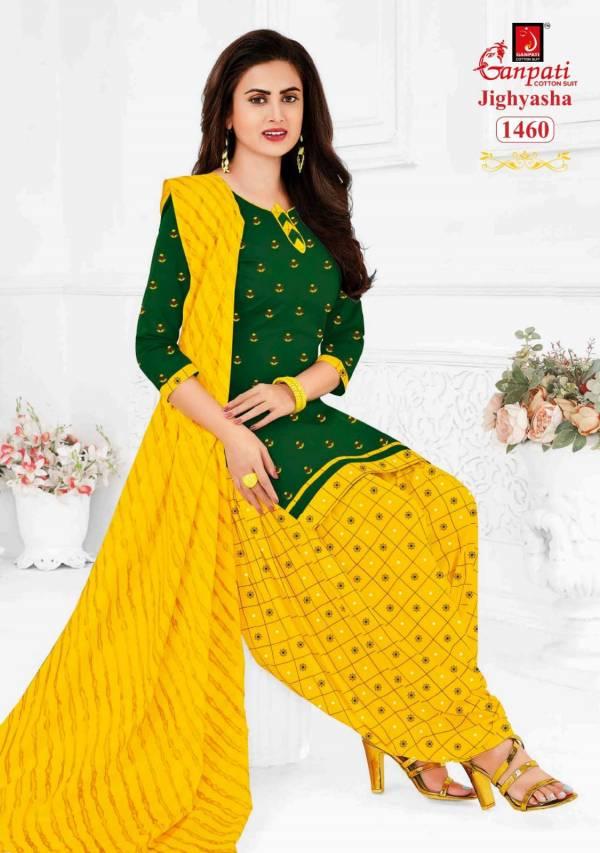 Ganpati Jighyasha 14 Latest Fancy Regular Wear Printed Cotton Salwar Suit Collection