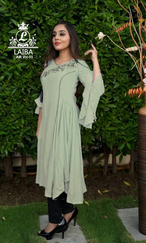 Laiba Formal Cotton Edition 55 Casual Wear Fancy Designer Pure Cotton flex Top Readymade Collection