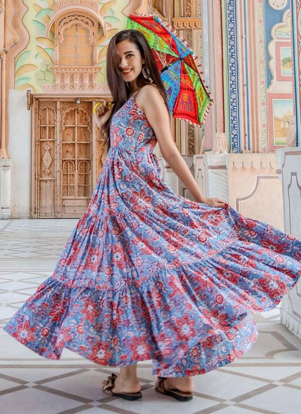 STYLISHTA VOL 8 BEAUTIFUL MUSIN FABRIC AND DIGITAL PRINT COLLECTION OF 4 PCS WITH FULL STITCHED GOWNS
