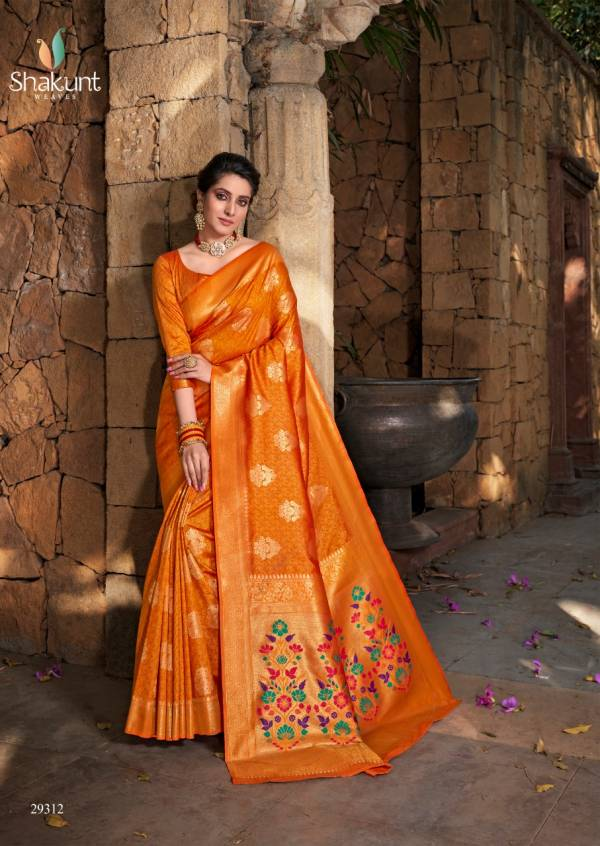SHAKUNT RONIKA Latest fancy festive Wear Heavy ART Silk Paithani Pallu Designer saree Collection