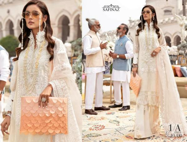 Safinaz Siffli 1 Latest Fancy Designer Heavy Festive Wear Cambric Cotton Pakistani Salwar Suits Collection