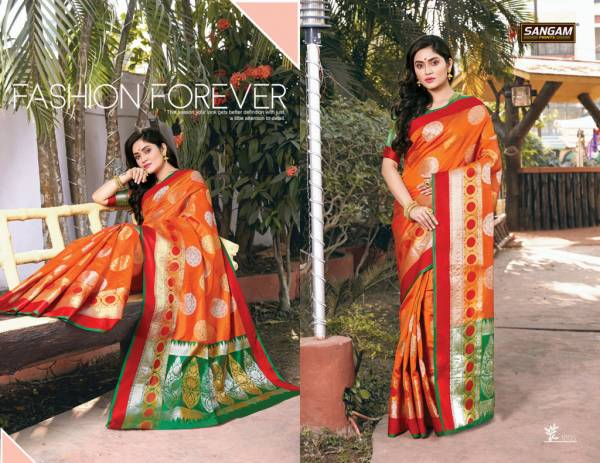 Sangam Paithani Latest Fancy Designer Heavy Silk Party Wear Saree Collection