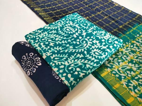 Rayon Premium Batik Print 1 Latest Casual Wear Printed Dress Material Collection