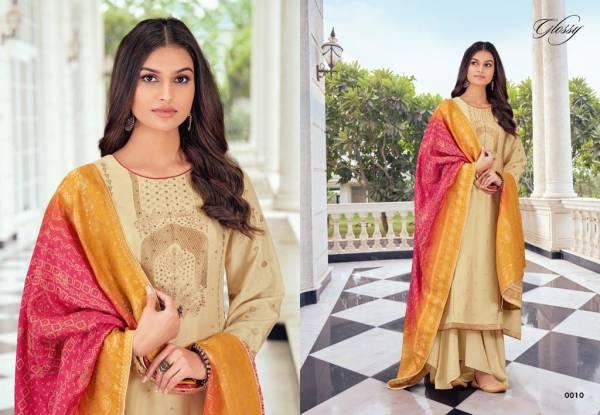 Glossy Arabella 9 Series Latest Fancy Festive Wear Pure Viscose Dola Jacquard With Swarovski Work Designer Salwar Suits Collection