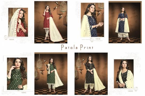 Kalamkari Patola Prints 1004 Colour Designer Printed Dress Material at Wholesale Price