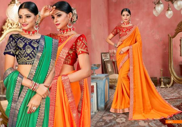 Ronisha Roopkala Designer Embroidery Party Wear Saree Collection