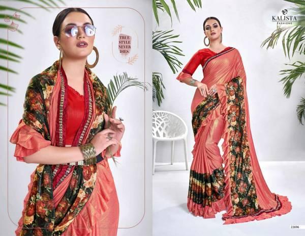 Kalista Paradise 3 Latest Fancy Heavy Designer Party Wear Lycra Silk Saree Collection With Flur Border