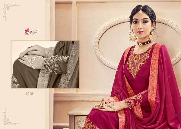 Kesari Naaz 3 Designer Heavy Fox Georgette and Heavy Self Embroidery work Dupatta Pallu and Diamond Salwar Suits Collection