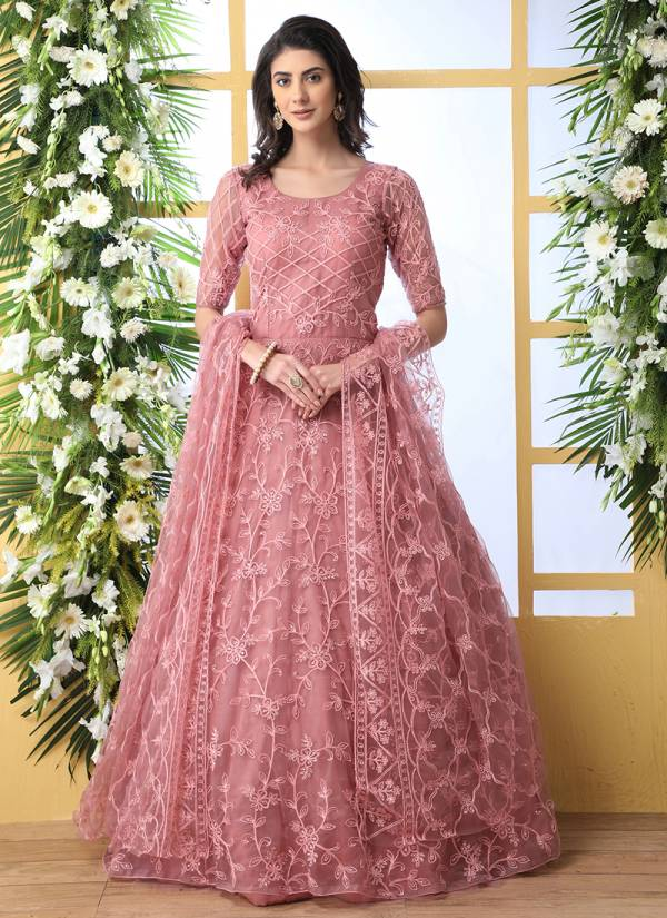 Khushboo Flory Vol3 Net Designer Party Wear Or Wedding Gown Collections