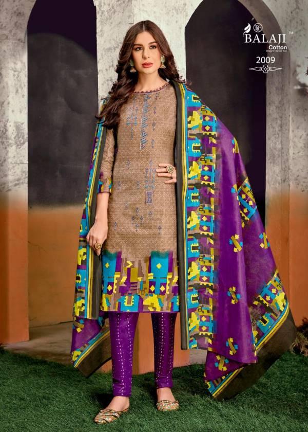 Balaji Kanika Vol 2 Latest Festive Wear Printed Cotton Dress Material Collection