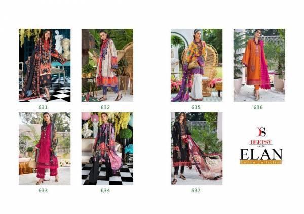 Elan Deepsy Pure Jam Cotton Printed Pakistani Salwar Suit Collections