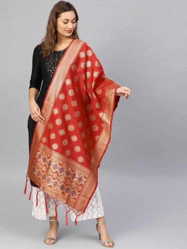 Zarika Dupatta Collection Banarasi Silk Fabric And Beautiful Design Border