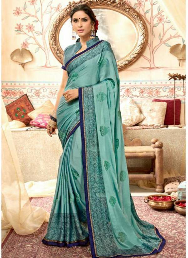 Moss Chiffon New Designer Casual Wear Sarees Collection